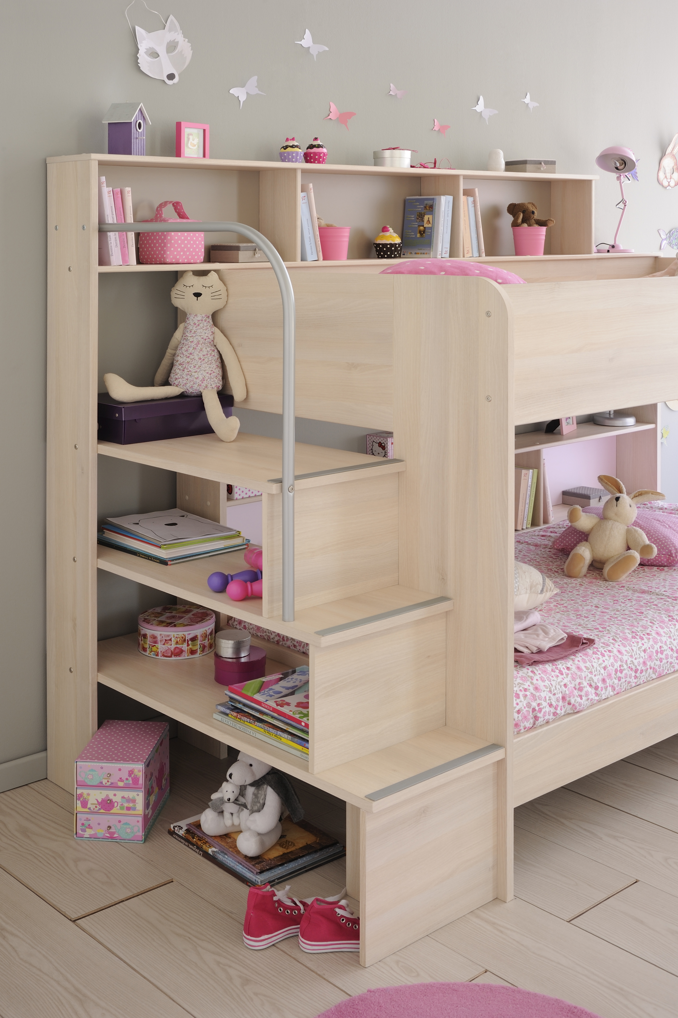Parisot Bibop Bunk Bed In Acacia Rainbow Wood