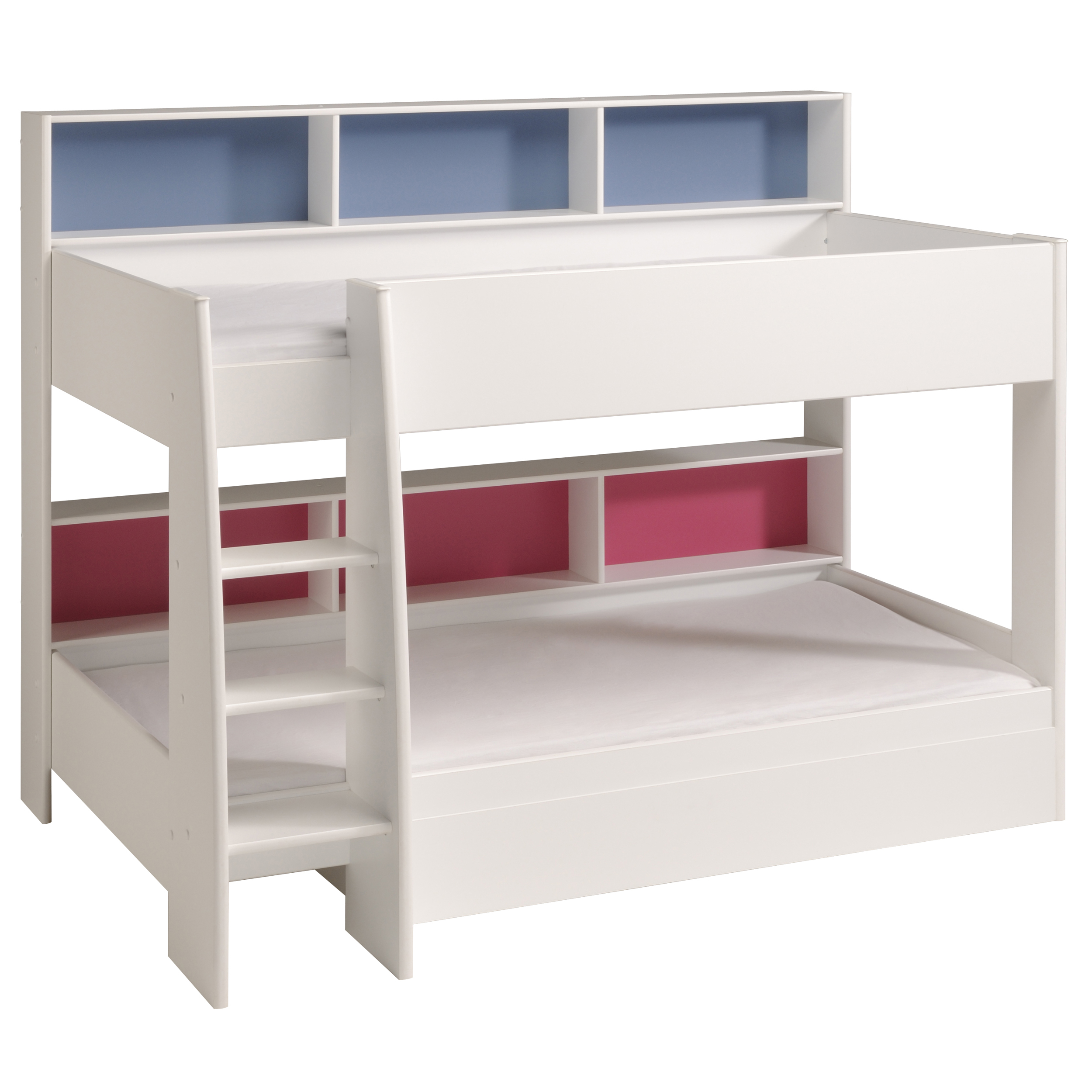 Scallywags Bedroom Furniture Parisot Tam Tam Bunk Bed White Rainbow Wood