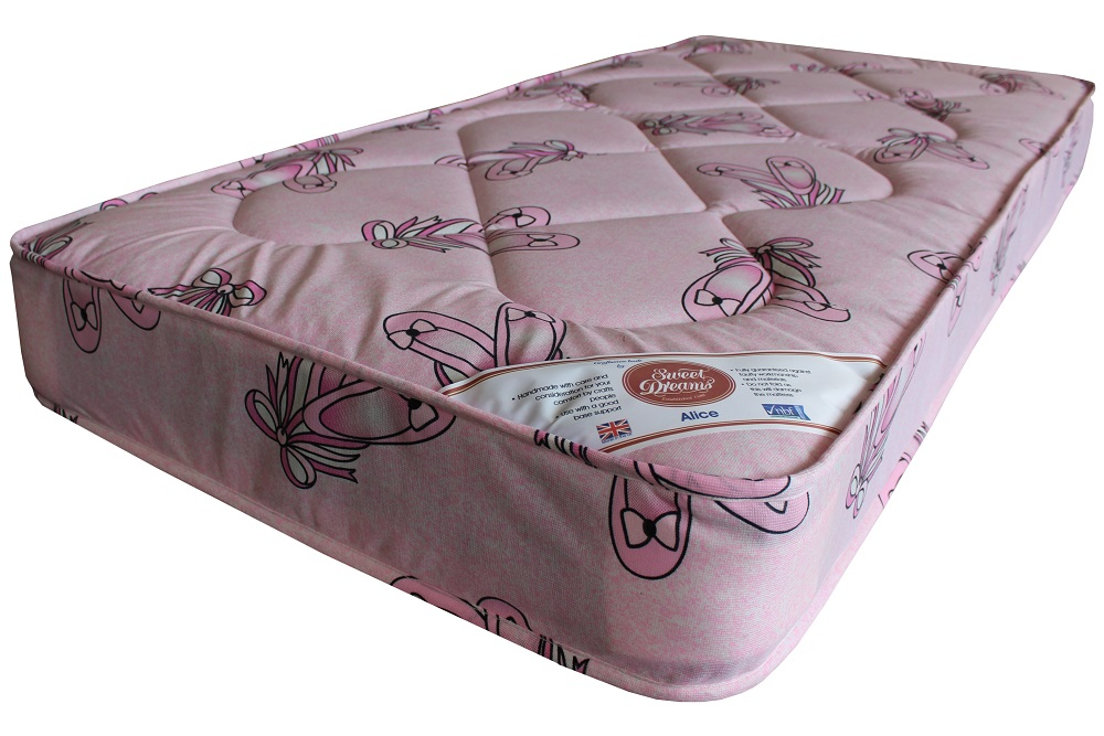 Hearts mattress in ballet fabric