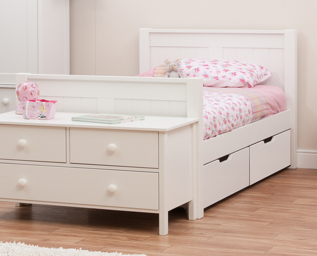 stompa classic single bed with drawers rainbow wood. Black Bedroom Furniture Sets. Home Design Ideas