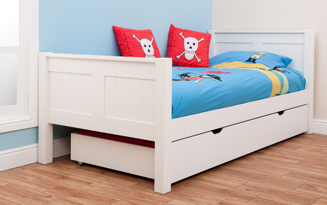 single bed with trundle stompa classic single bed with trundle rainbow wood 17073