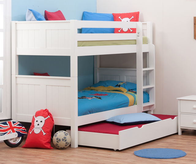 Stompa Classic Bunk Beds With Trundle Rainbow Wood