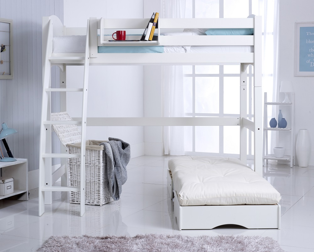 Scallywag highsleeper with futon extended