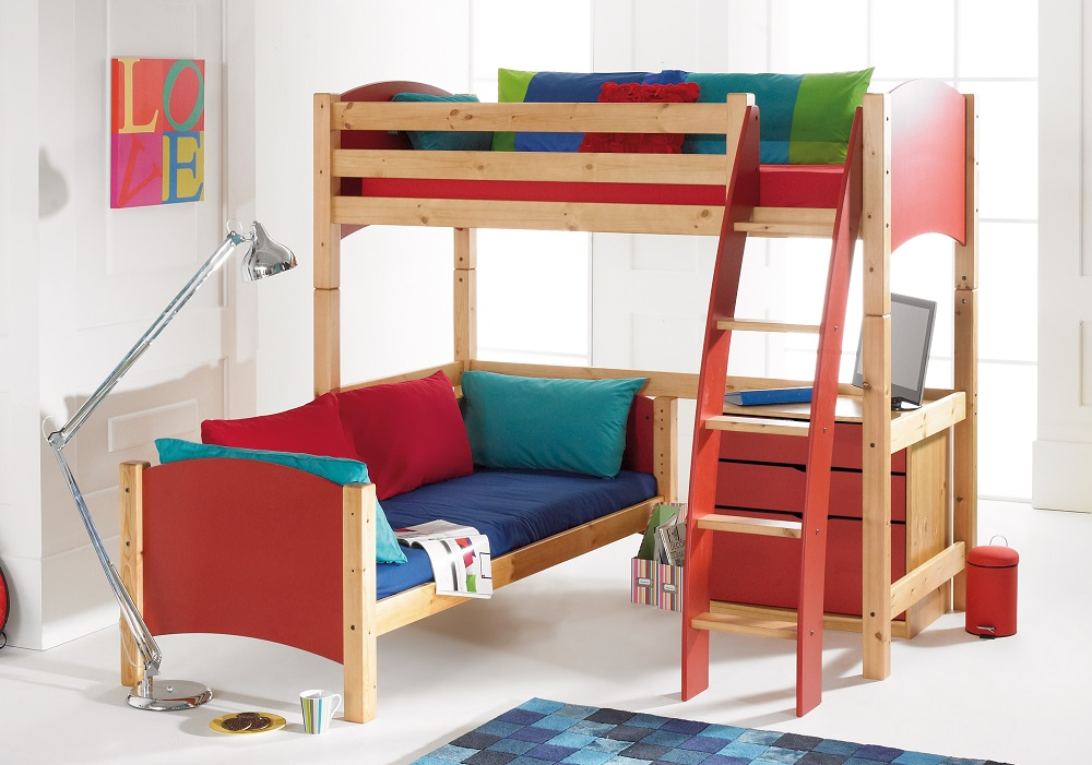 Scallywag L-shaped Bunk Bed