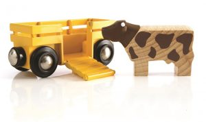 BRI-33406 - Cow and Wagon