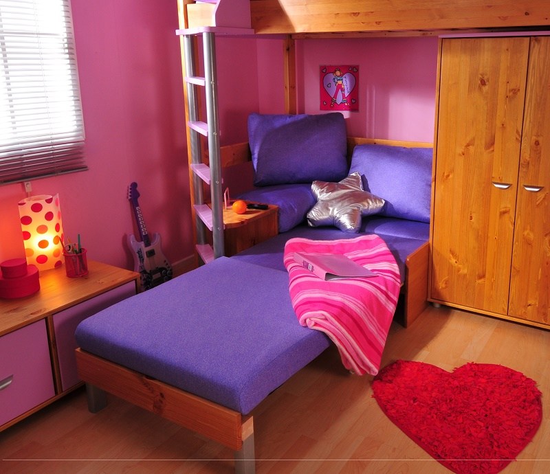 Chairbed 4 Lilac