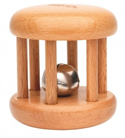 BRI-30054 -Bell Rattle - Natural Wood