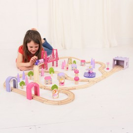 BJT023 - BigJigs Fairy Town Train Set