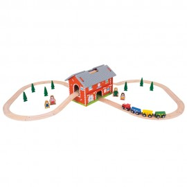 BJT024 - BigJIgs Railway Station Carry Set