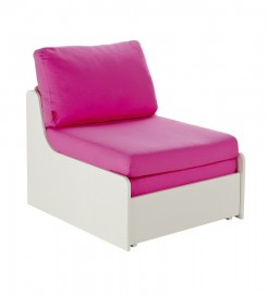 Stompa Uno-S Chair Bed - Pink Cushions