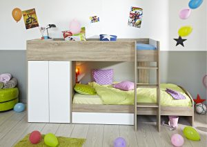 Parisot Tam Bunkbed White And Grey