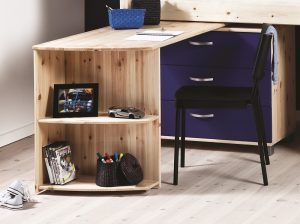 Thuka Trendy Swivel Desk - Natural Pine