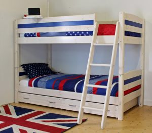 Thuka Trendy Bunk Bed B - Blue, Sloping Ladder