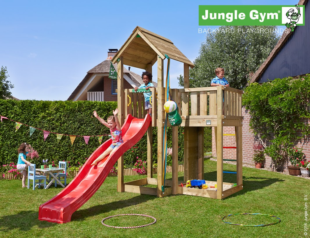 Jungle Gym Mansion Climbing Frame - Rainbow Wood