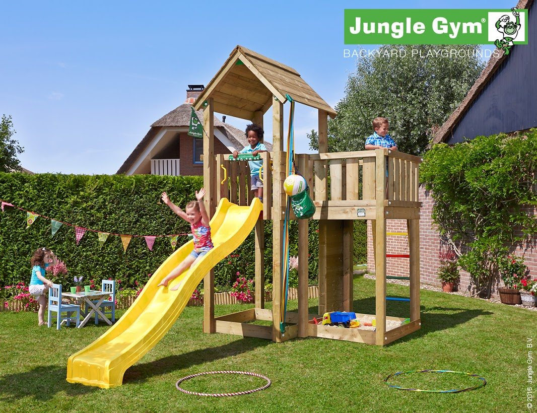 Jungle Gym Mansion Climbing Frame Rainbow Wood
