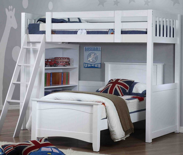 Willow L Shaped Bunk Bed Rainbow Wood