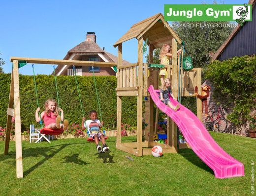 wooden-swing-sets-mansion-2-swing-xtra