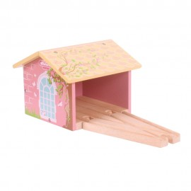 BJT238 - Bigjigs Pink Double Engine Shed