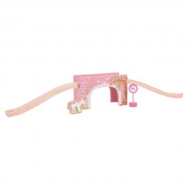 BJT239 - BigJigs Pink Arched Bridge