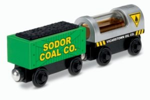 Wooden Thomas Oil & Coal Cargo Wagons