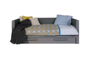 Dennis Day Bed with Trundle - Steel Grey