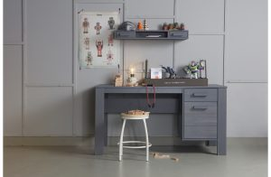 Dennis Desk - Steel Grey