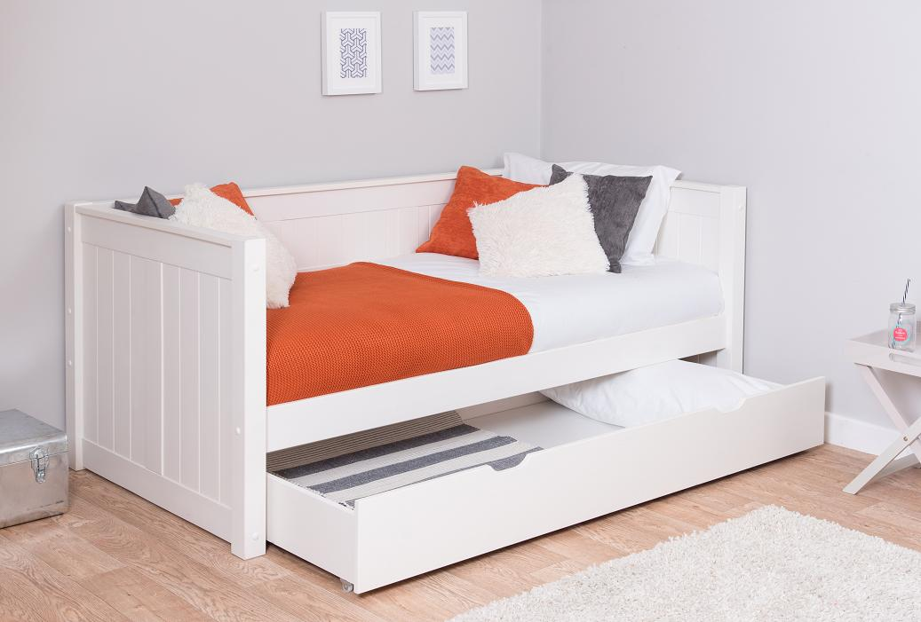 Stompa Classic Day Bed With Trundle Drawer Rainbow Wood