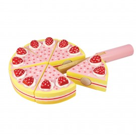 BJ374 bigjigs Strawberry Party Cake