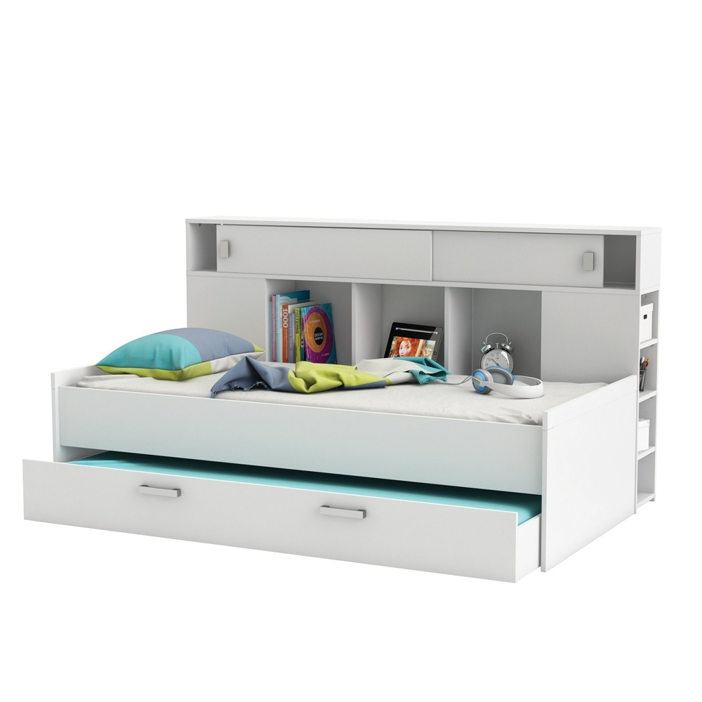 Sherwood storage guest bed rainbow wood - Lit 160x200 avec rangement ...