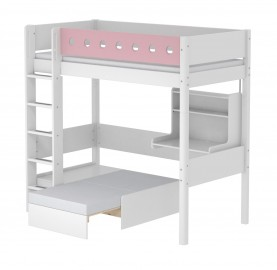 Flexa White Casa Highsleeper - White/Pink