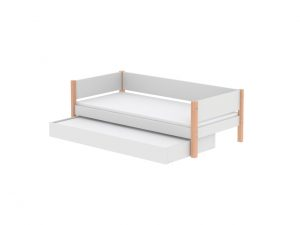 Flexa White Single with Trundle