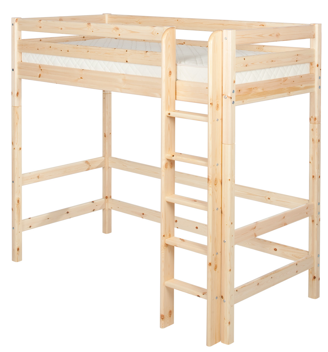 Flexa Classic Highsleeper - Straight Ladder - Natural