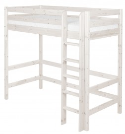 Flexa Classic Highsleeper - Straight Ladder - Whitewash