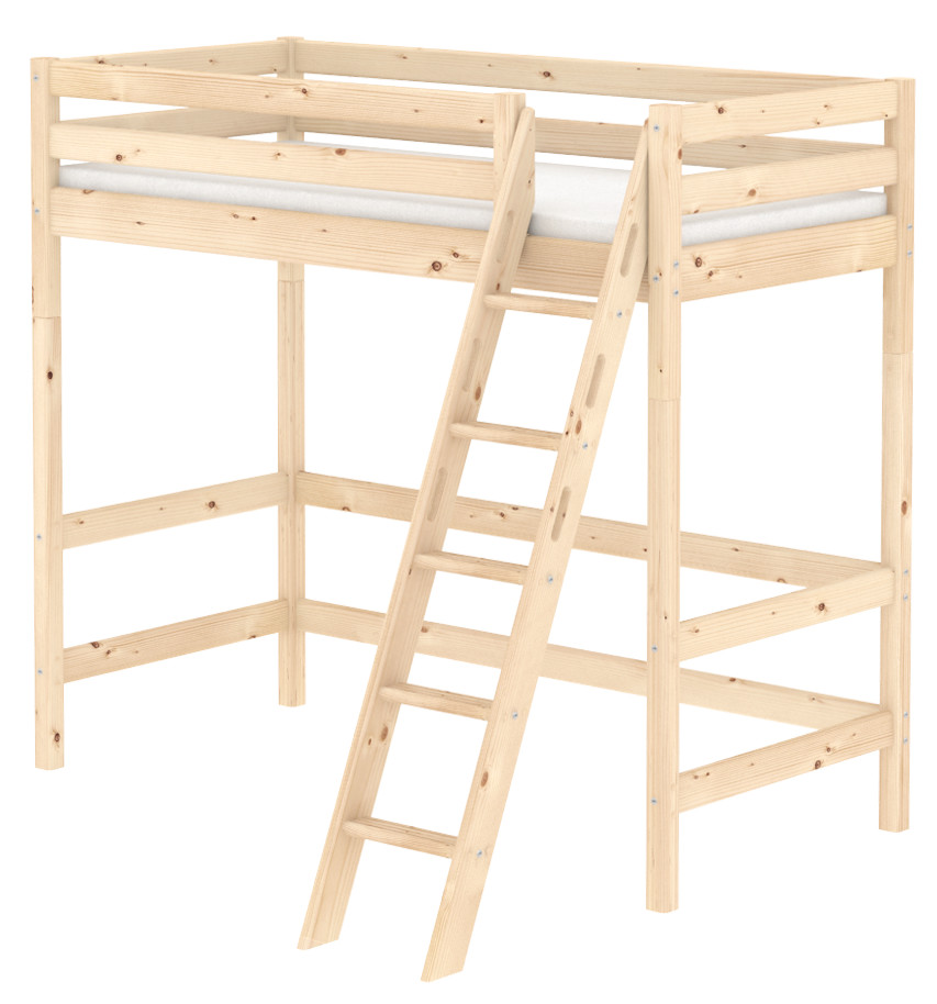 Flexa Classic Highsleeper - Sloping Ladder - Natural