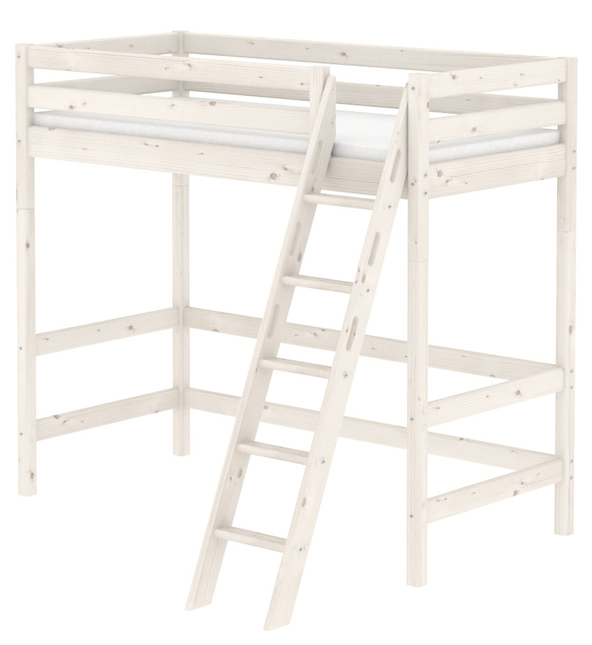 Flexa Classic Highsleeper - Sloping Ladder - Whitewash