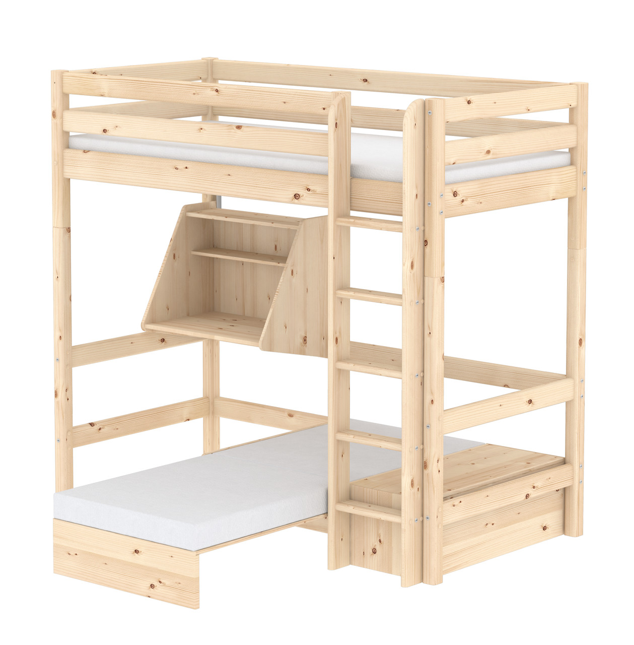 Flexa Classic Casa Highsleeper - Straight Ladder - Natural