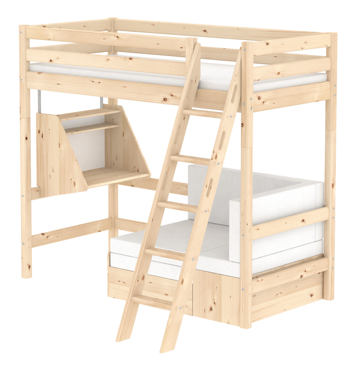 Flexa Classic Casa Highsleeper - Sloping Ladder - Natural