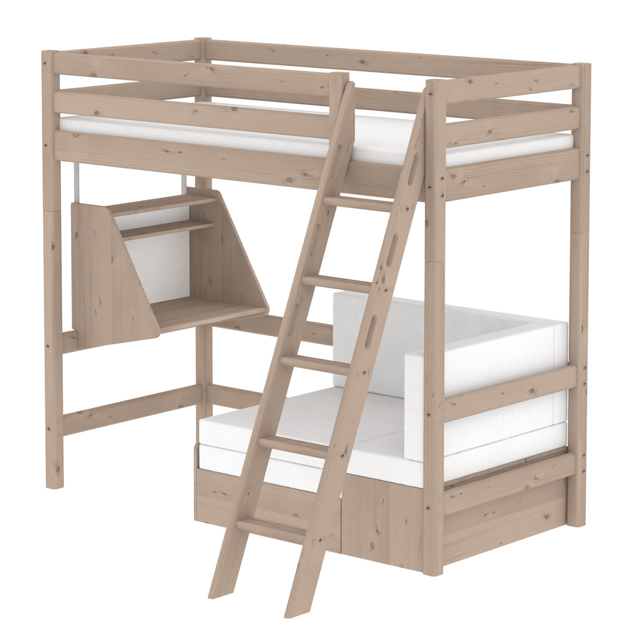 Flexa Classic Casa Highsleeper - Sloping Ladder - Terra