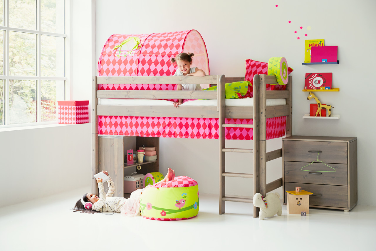 Flexa Classic Semi-High - Straight Ladder/Terra - Princess Theme