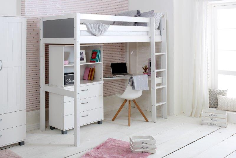 Nordic Highsleeper 4 with Grey Headboards