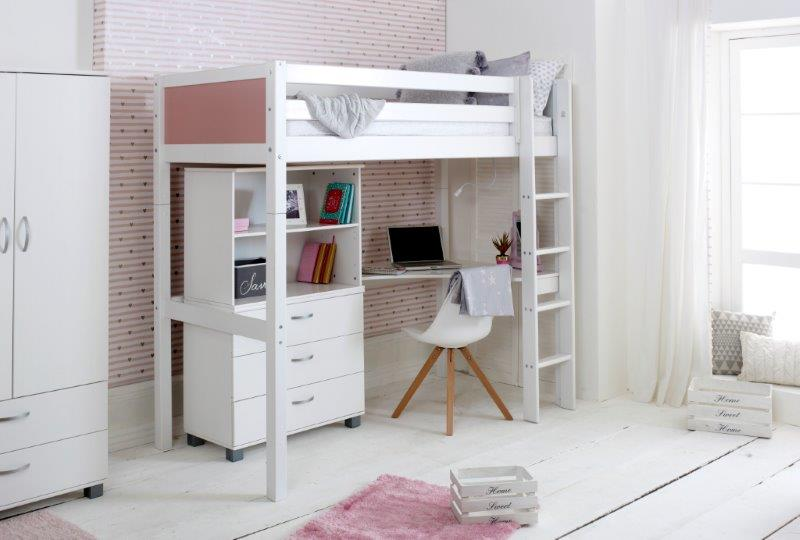 Nordic Highsleeper 4 with Rose Pink Headboards