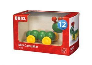 brio pull along mini caterpillar boxed