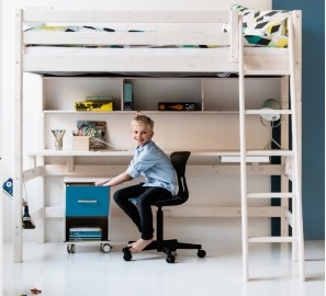 Flexa Classic Highsleeper with Long Desk