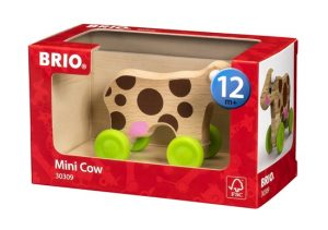 pull along mini cow boxed