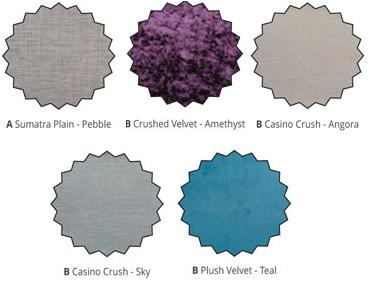 Aberdeen Headboard Colour Options (approximation only)