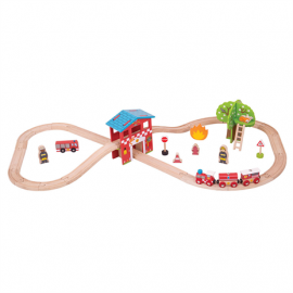 BJT037 fire and rescue train set