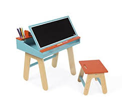 janod desk and chair -blue and orange
