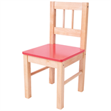 bj252 red wood chair